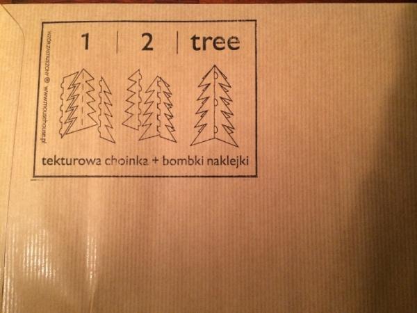 1 I 2 I TREE - tekturowa choinka i bombki naklejki