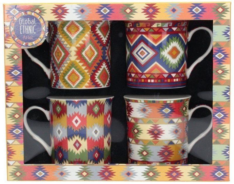 Dekoria.pl, zestaw kubków Ethnic Aztec