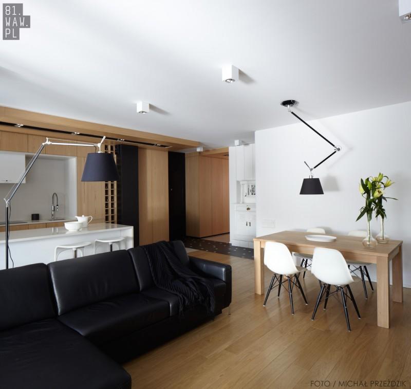Apartament ocieplony drewnem