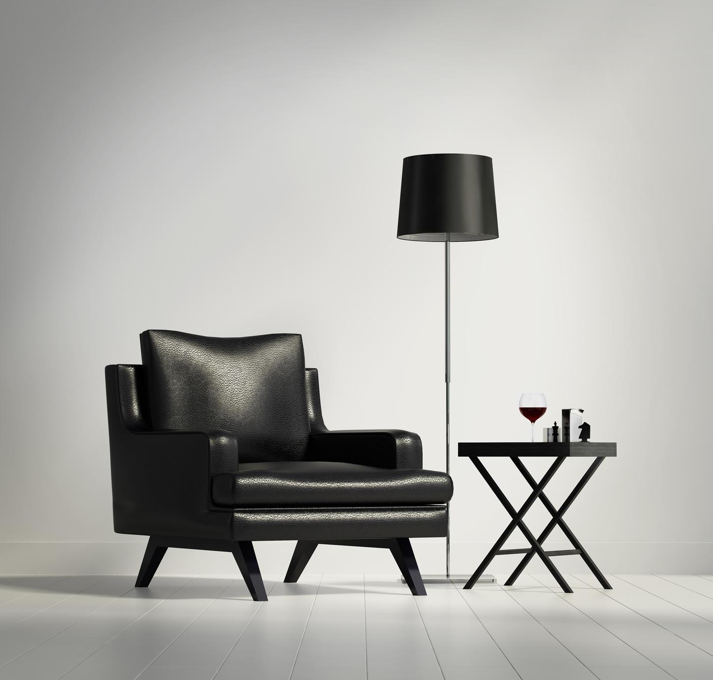 Czarno-białe wnętrza – zainspiruj się z Fotolią