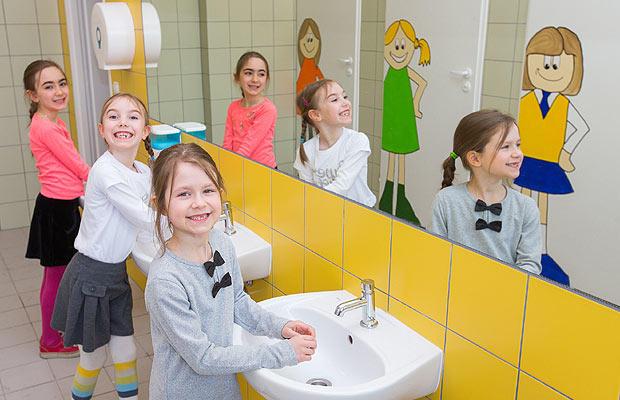 FERRO dzieciom - firma remontuje łazienki dla sześciolatków