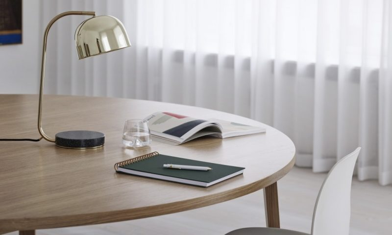 Normann Copenhagen Grant Table Lamp Brass Slice
