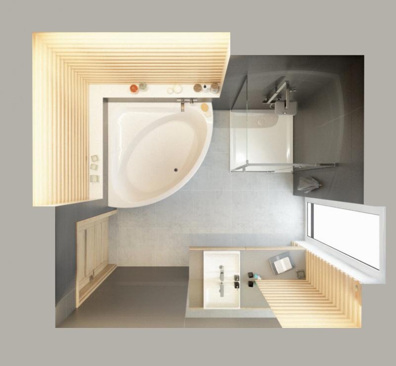 Łazienka w wymiarze 7m2 z produktami Sanplast