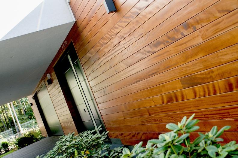 Naturalna elewacja z drewna