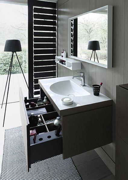 Nowa technologia: umywalka i meble łazienkowe łączą się tworząc spójną całość