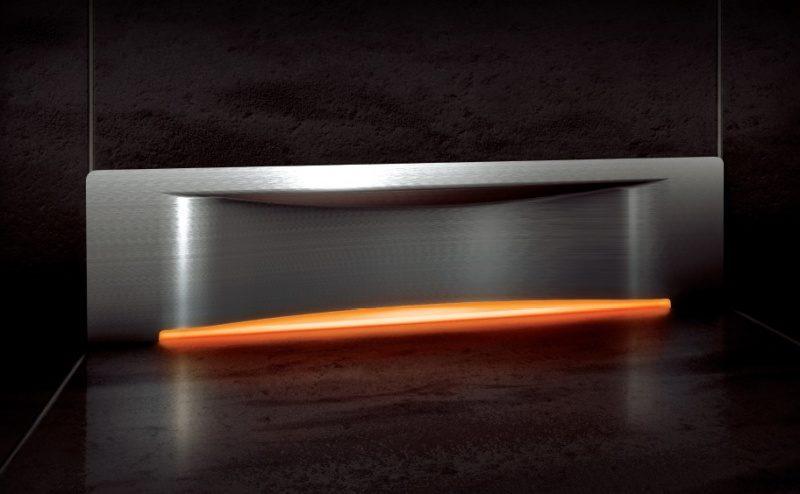 Odpływ ścienny SCADA LED zpokrywą Wave