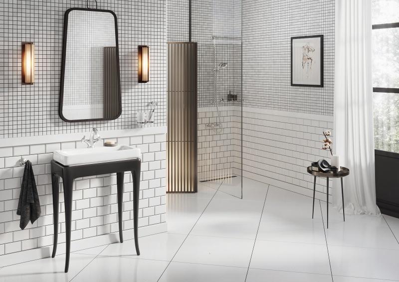 Retro w nowoczesnej łazience
