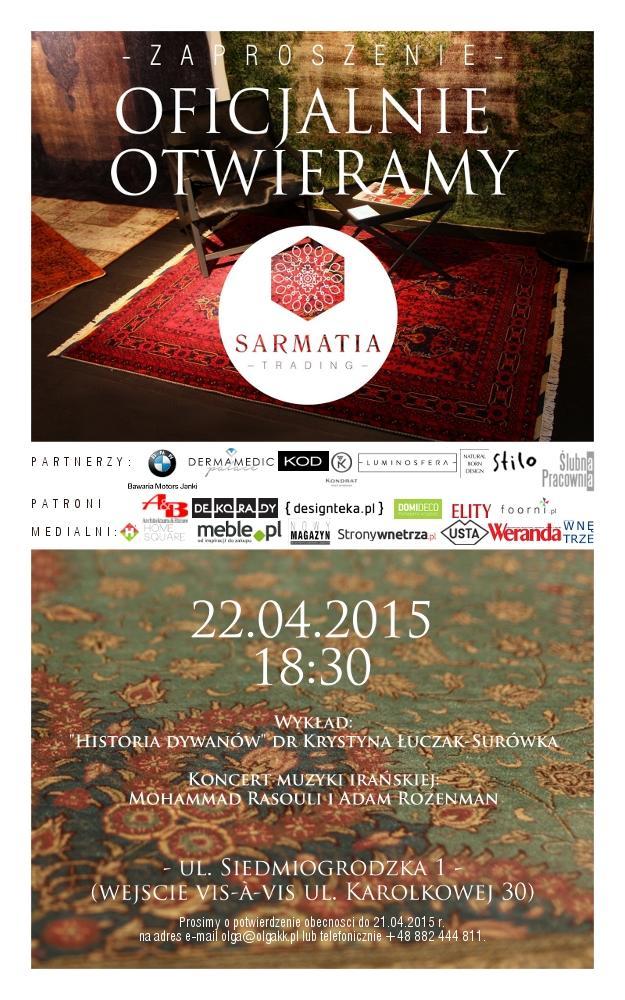 Sarmatia Trading zaprasza na otwarcie salonu!