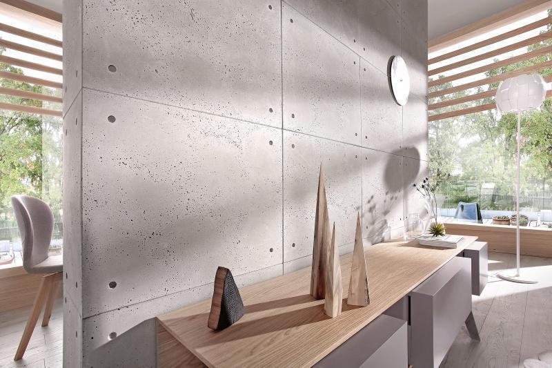 Stara cegła lub beton na elewacji i we wnętrzach
