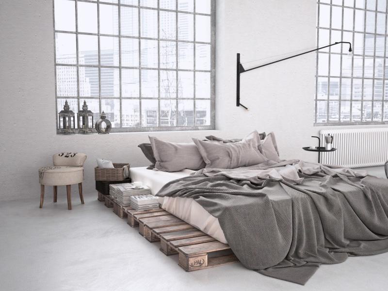 Sypialnia pełna natury