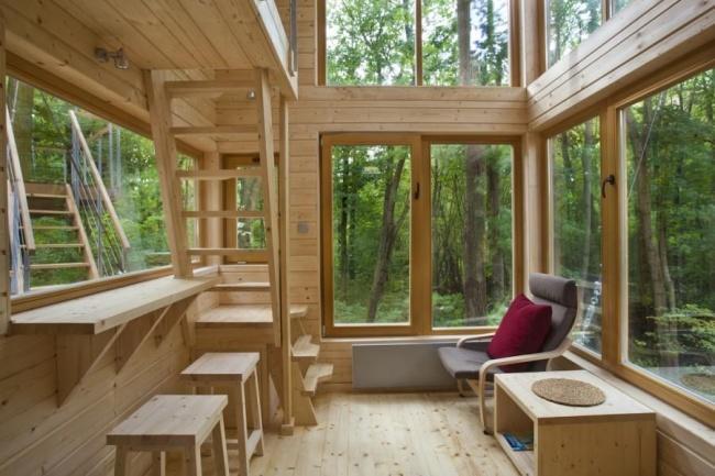 Fot. projekt Wnętrza hotelu W Drzewach w Nałęczowie autorstwa Piotra Jakubowskiego