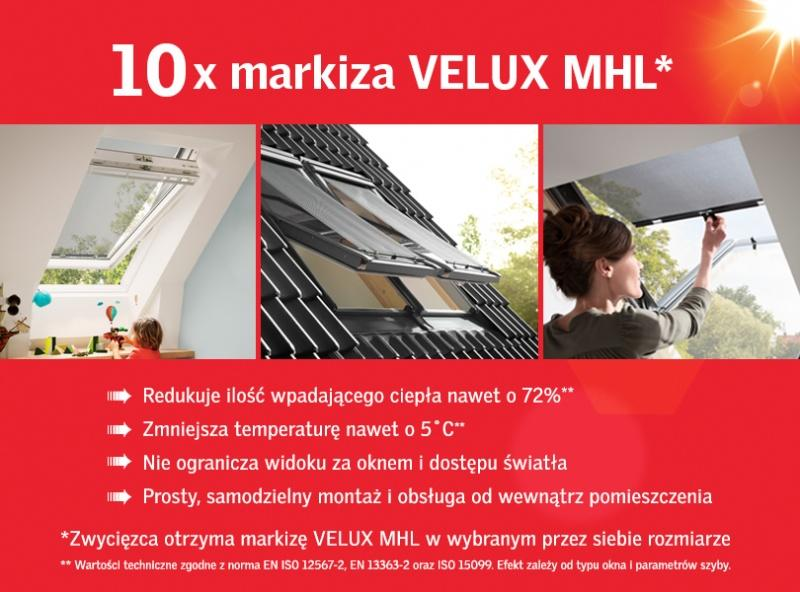 Wygraj markizę VELUX - konkurs na Facebooku
